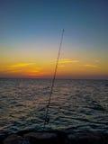 钓鱼与单独海,阿吉曼 免版税库存照片
