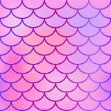 钓鱼与桃红色颜色梯度的皮肤无缝的样式 鱼鳞传染媒介纹理  库存图片
