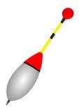 钓鱼与白色的浮游物红色 库存图片