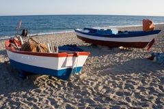 钓鱼二的小船 库存照片
