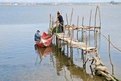 钓鱼传统 免版税库存照片