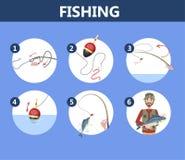 钓鱼初学者的指示 人的指南 皇族释放例证