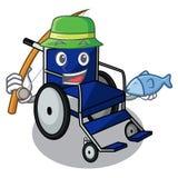 钓鱼动画片轮椅在医房 向量例证