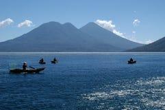 钓鱼危地马拉的小船 免版税库存照片
