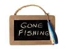 钓鱼去的符号 免版税库存图片