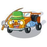 钓鱼吉普在形状字符的汽车玩具 向量例证