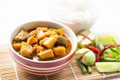 钓鱼器官酸汤,南部的泰国食物 库存图片