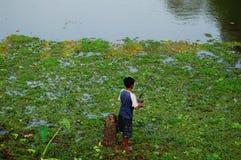 钓鱼在亚洲 免版税库存图片