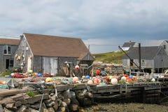 钓鱼在佩吉的小海湾 免版税库存照片