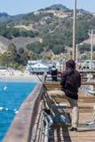 钓鱼在加利福尼亚 免版税库存图片