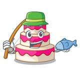 钓鱼在动画片冰箱的婚宴喜饼 库存例证