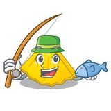 钓鱼在动画片冰箱的菠萝切片 皇族释放例证