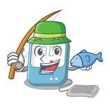 钓鱼在动画片医学箱子的血压 库存例证