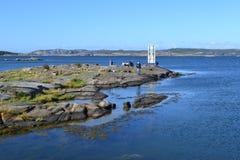 钓鱼在北海 免版税库存图片