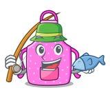 钓鱼在形状字符的厨房围裙 皇族释放例证