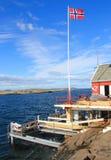 钓鱼在挪威 免版税图库摄影