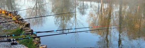 钓鱼在比利时社论 免版税库存照片
