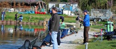 钓鱼在比利时社论 库存图片