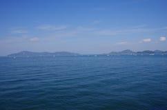 钓鱼在濑户濑户内海 免版税库存图片