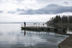 钓鱼在爱沙尼亚 免版税库存照片