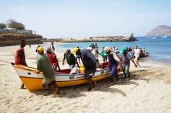 钓鱼在非洲 免版税库存图片