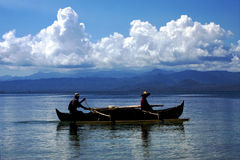 钓鱼在马达加斯加海运 库存照片