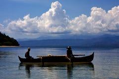 钓鱼在马达加斯加 免版税库存照片