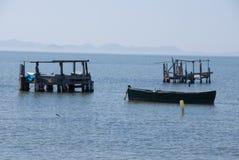 钓鱼在3月Menor在穆尔西亚 图库摄影