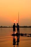 钓鱼在Westlake河内 免版税库存照片