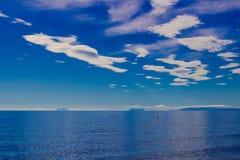 钓鱼地中海净海运金枪鱼的偏差 免版税库存图片