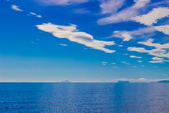 钓鱼地中海净海运金枪鱼的偏差 图库摄影