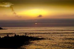 钓鱼太阳 免版税图库摄影