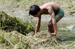 钓鱼对于儿童 免版税库存图片