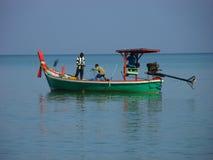 钓鱼小泰国的小船 库存图片