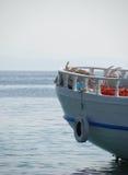 钓鱼希腊传统的小船 免版税库存图片