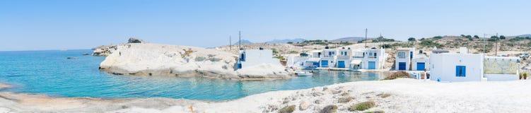 钓鱼希腊传统村庄 库存图片