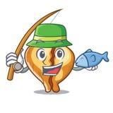 钓鱼意大利式饺子在动画片板供食 皇族释放例证