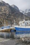 钓鱼挪威的小船 免版税库存照片