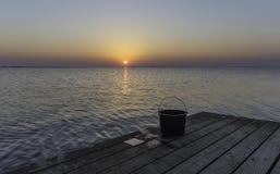 钓鱼日末端 库存图片