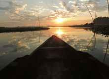 钓鱼早晨 库存图片