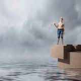 钓鱼是让s 免版税库存照片