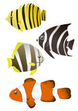钓鱼有条纹 向量例证