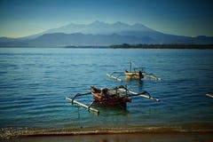钓鱼本机的小船 图库摄影