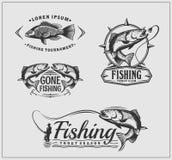 钓鱼标签和象征 库存例证