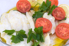 钓鱼沙拉 免版税库存图片