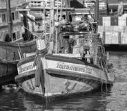 钓鱼泰国传统的小船 免版税库存图片
