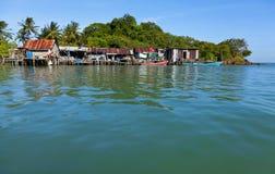 钓鱼泰国村庄 免版税库存照片