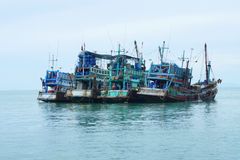 钓鱼泰国的小船 免版税库存图片