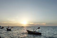钓鱼泰国的小船 免版税图库摄影