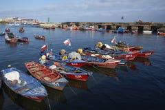 钓鱼海港在安托法加斯塔,智利 库存图片